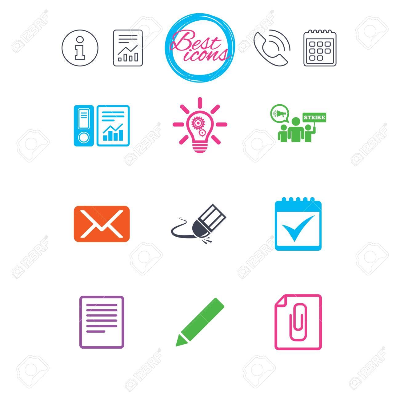 Calendario Segni.Informazioni Segnalazioni E Segni Del Calendario Ufficio Documenti E Icone Di Affari Contabilita Sciopero E Segni Di Calendario Mail Idee E
