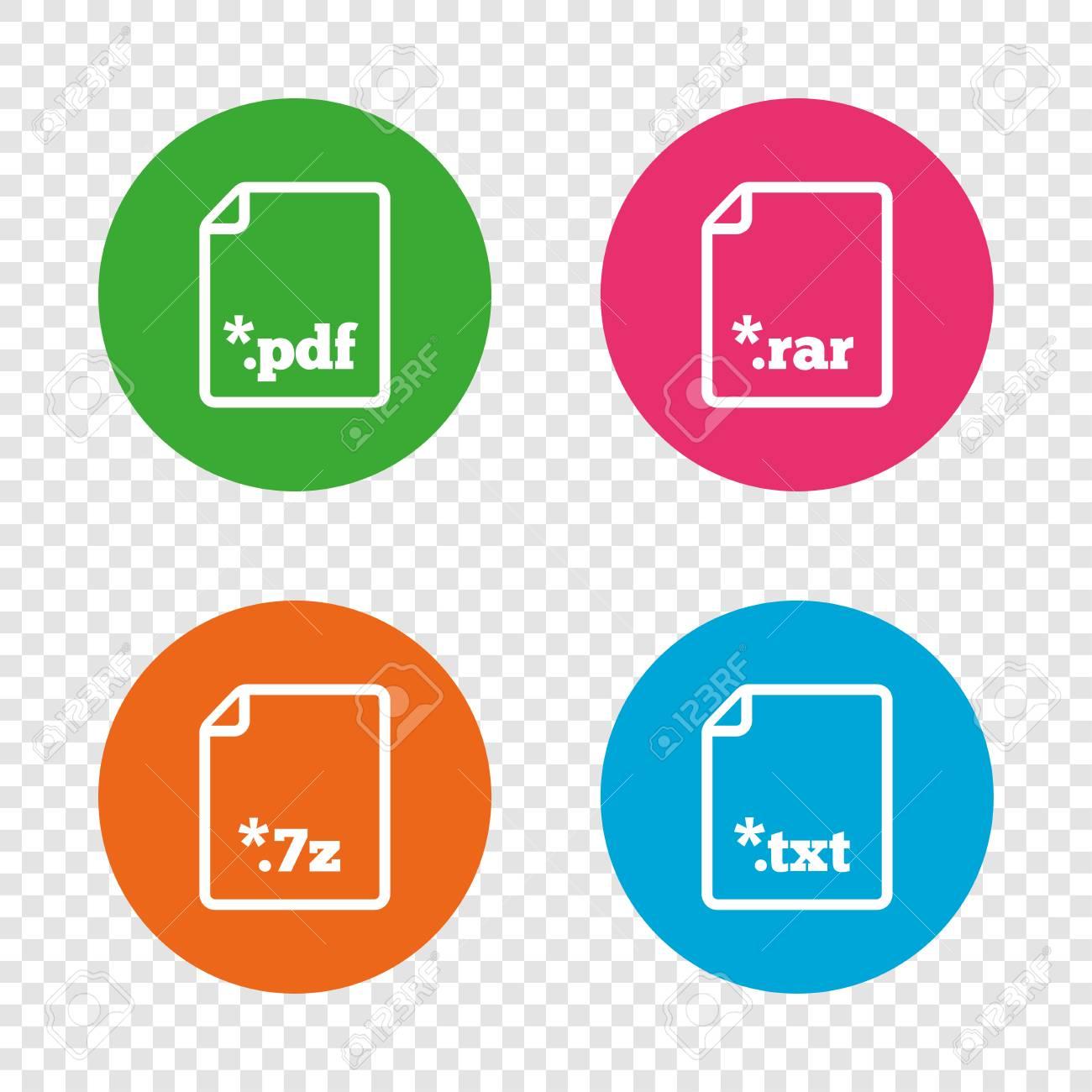 Download Document Icons File Extensions Symbols Pdf Rar 7z