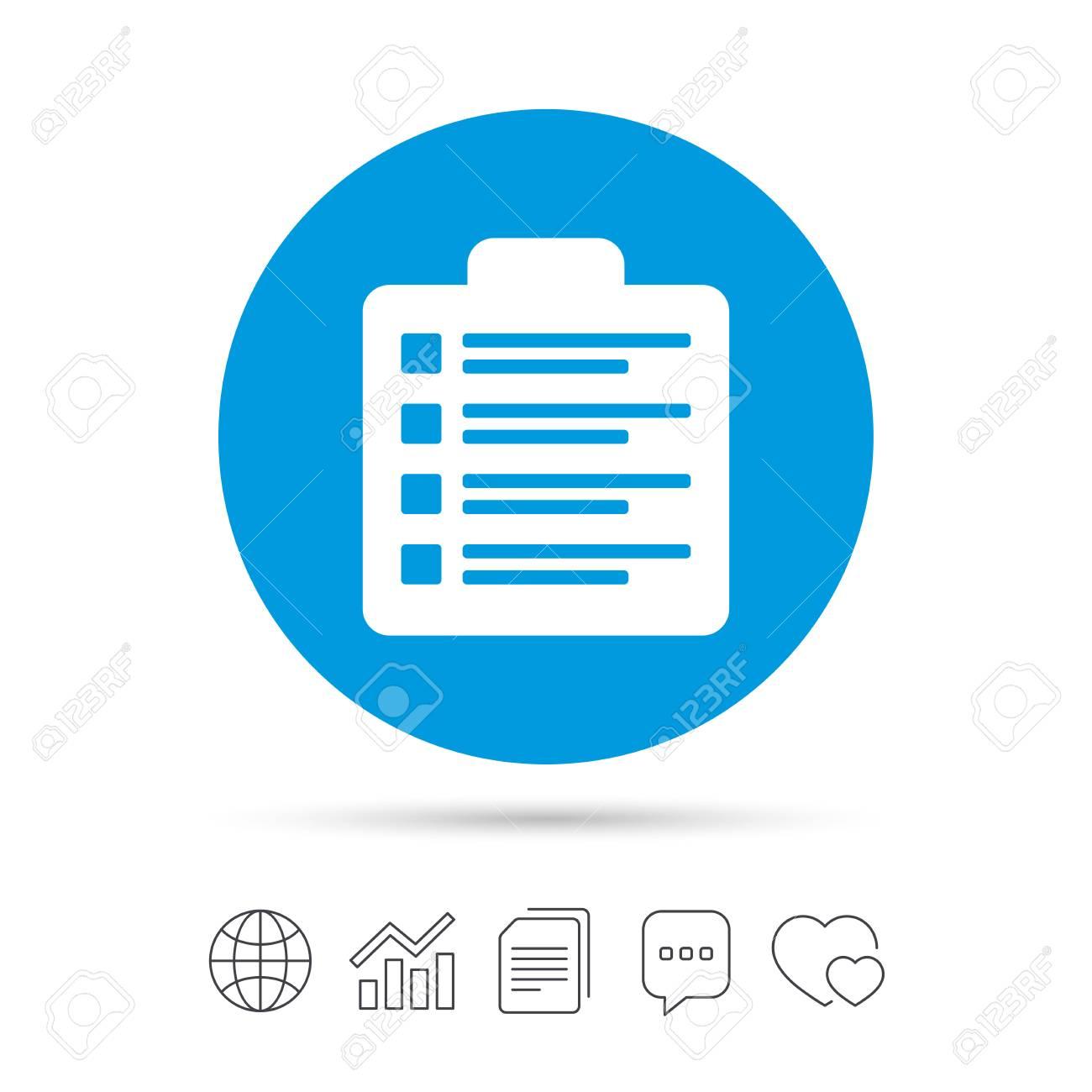 checklist sign icon control list symbol survey poll or questionnaire