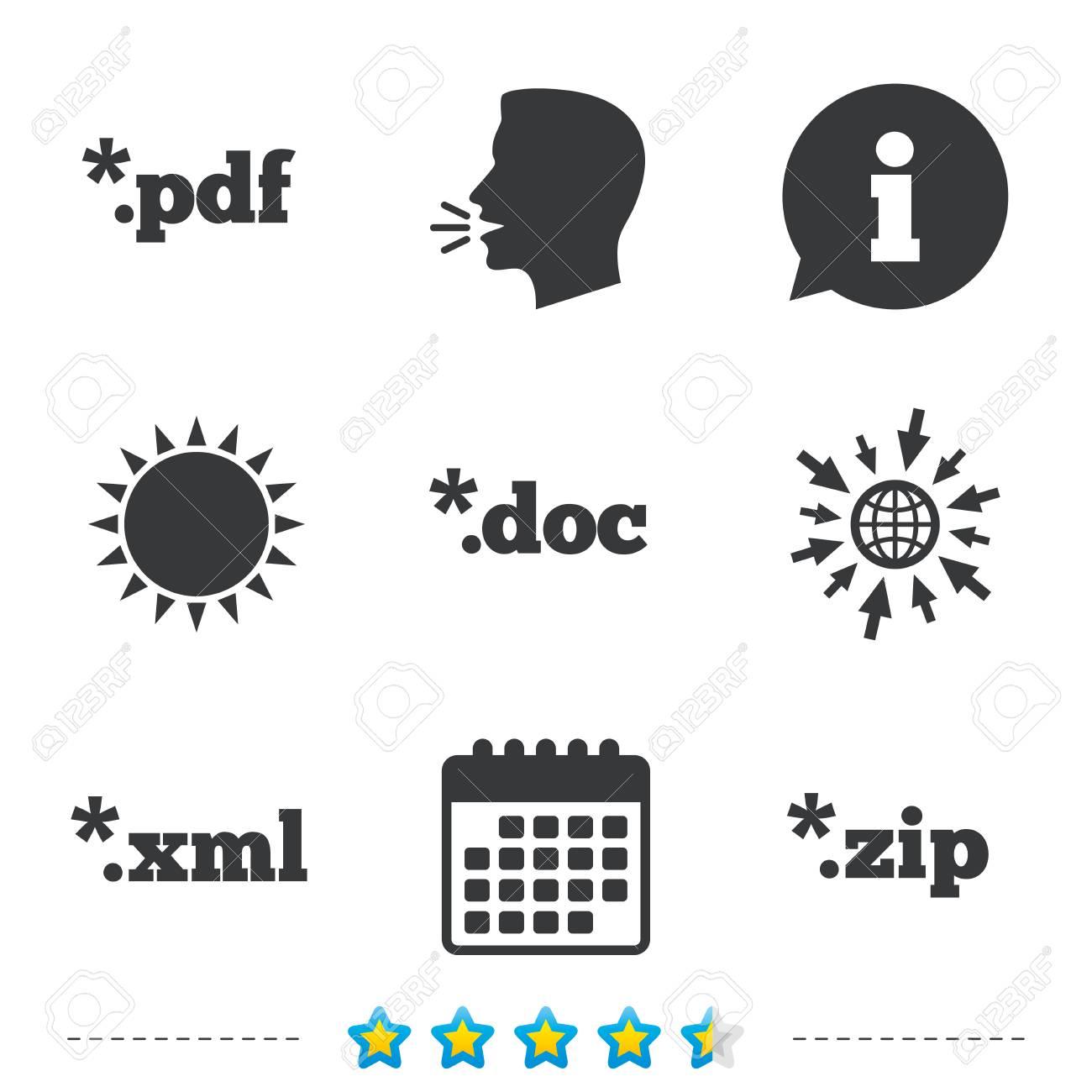 Document Icons File Extensions Symbols Pdf Zip Zipped Xml
