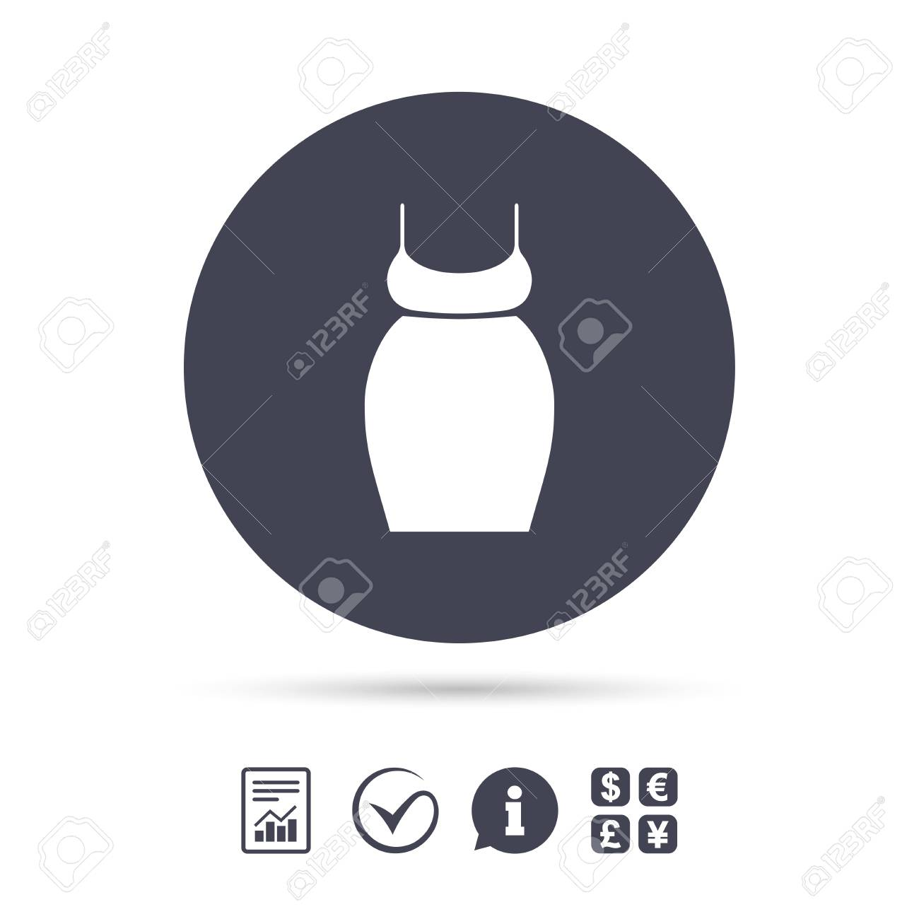 Pregnant Woman Dress Sign Icon Maternity Clothing Symbol Report