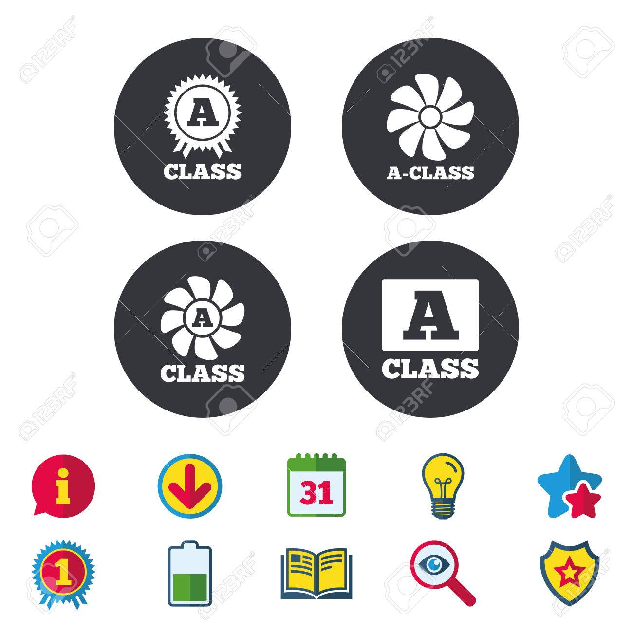 A Class Award Icon Premium Level Symbols Calendar Information And