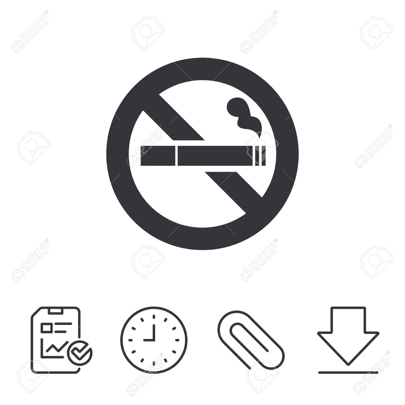 no smoking sign icon cigarette symbol report time and download