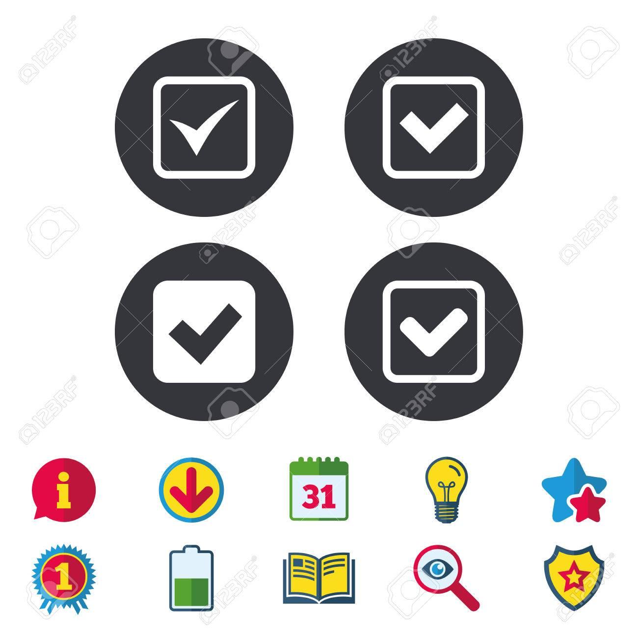 Calendrier A Cocher.Verifiez Les Icones La Case A Cocher Confirme Les Symboles Des Signes Des Carres Calendrier Informations Et Signes De Telechargement Les Icones