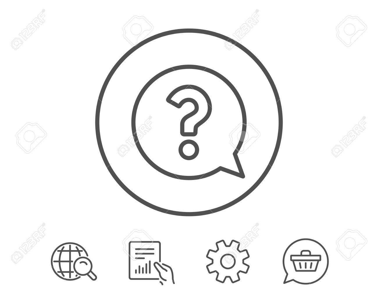 Question mark line icon help speech bubble sign faq symbol question mark line icon help speech bubble sign faq symbol hold report biocorpaavc Image collections