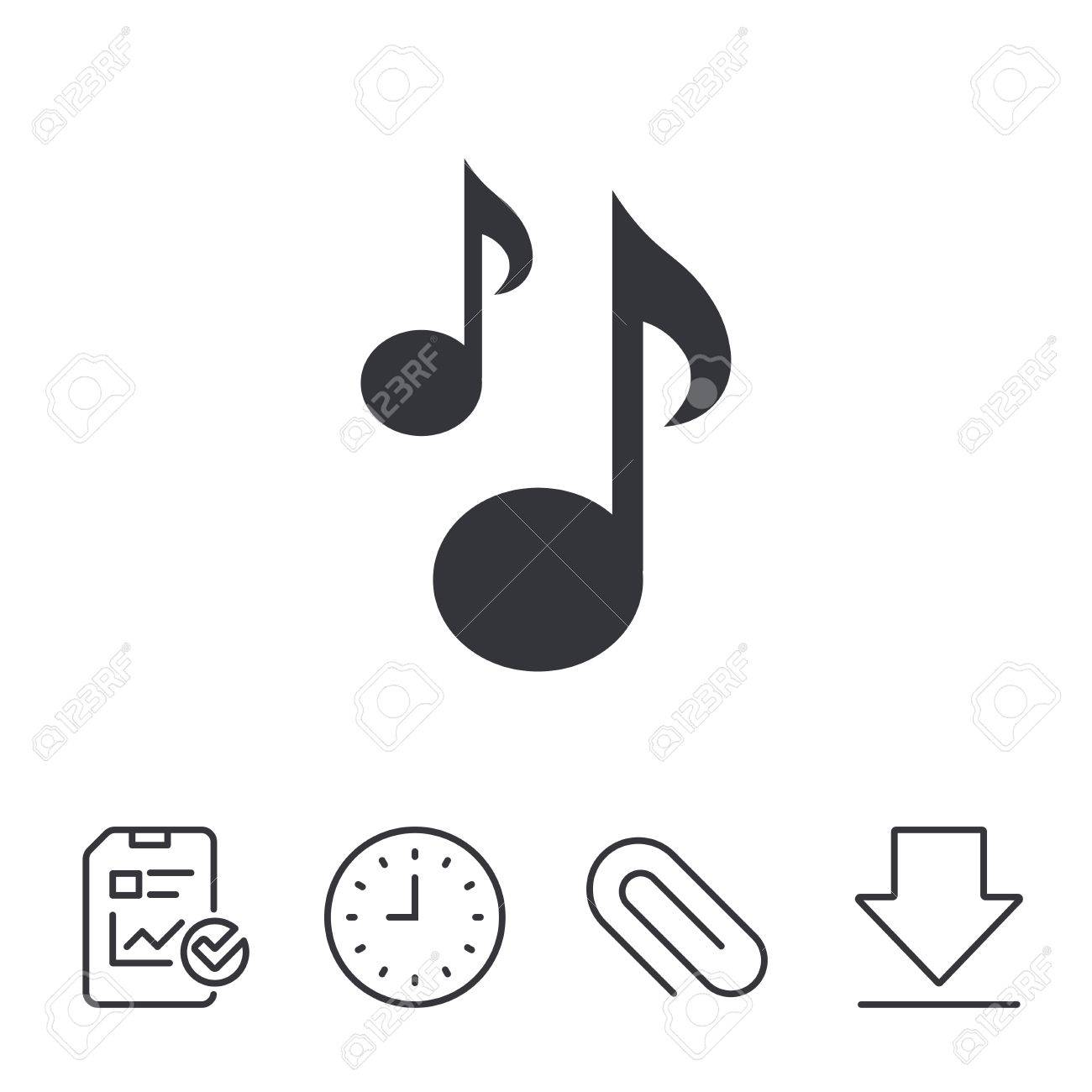 music notes sign icon musical symbol report time and download rh 123rf com