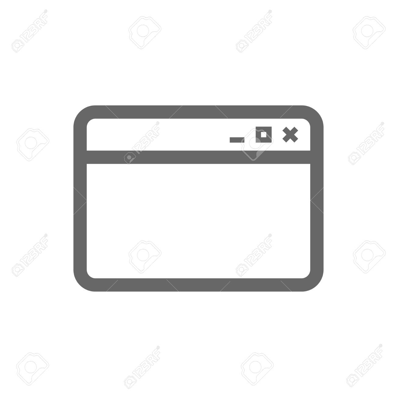 Browser window icon internet page symbol website empty template internet page symbol website empty template sign isolated flat icon buycottarizona Gallery
