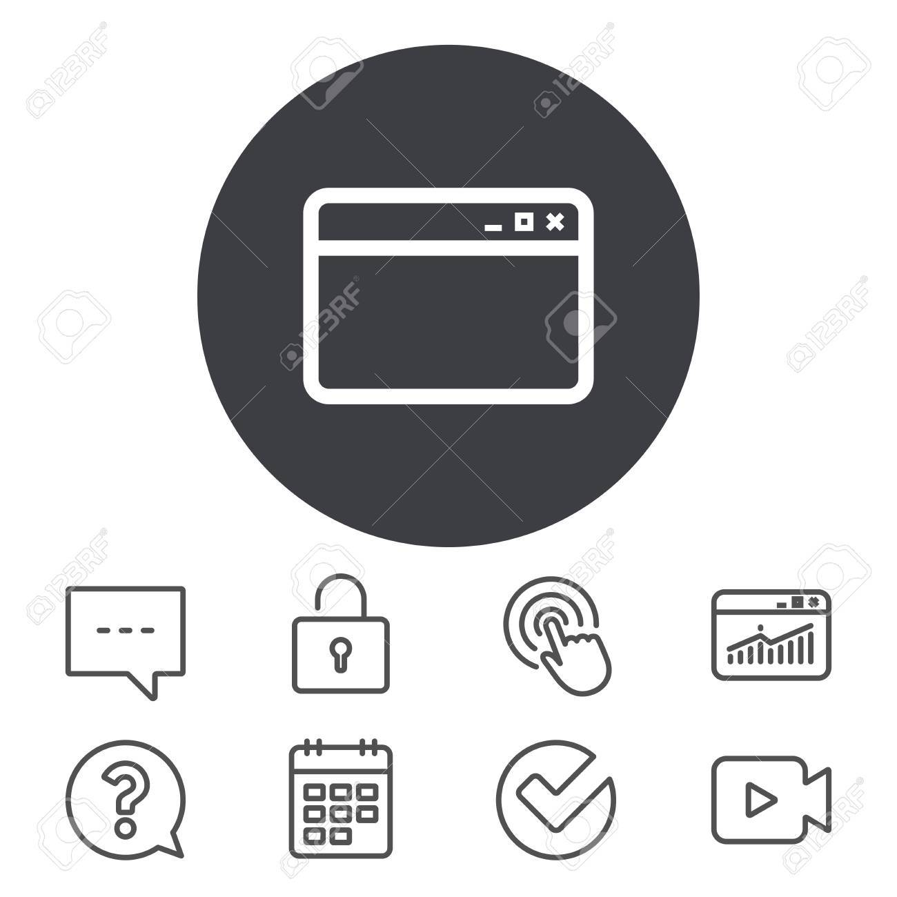 Icono De La Ventana Del Navegador. Símbolo De La Página De Internet ...