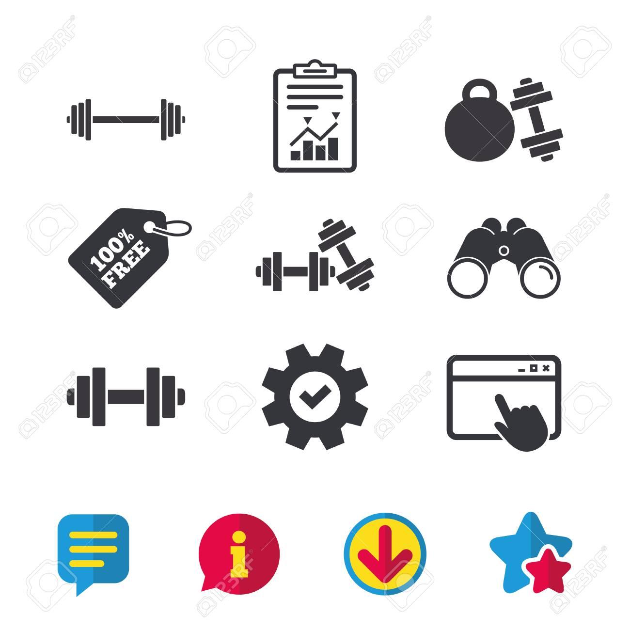 Dumbbells sign icons fitness sport symbols gym workout equipment dumbbells sign icons fitness sport symbols gym workout equipment browser window report biocorpaavc