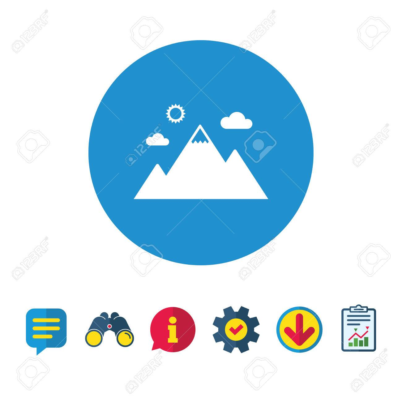 Mountain Icon Mountaineering Sport Sign Leadership Motivation Royalty Free Cliparts Vectors And Stock Illustration Image 82181640