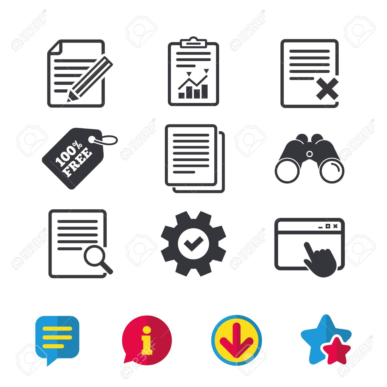 File document icons  Search or find symbol  Edit content with