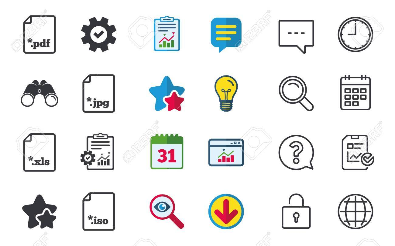 Download Document Icons File Extensions Symbols Pdf Xls Jpg