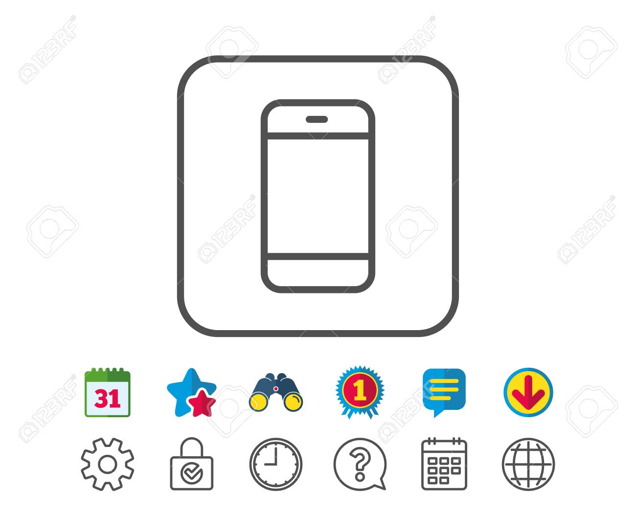 Smartphone Icon Cellphone Or Phone Sign Ommunication Mobile