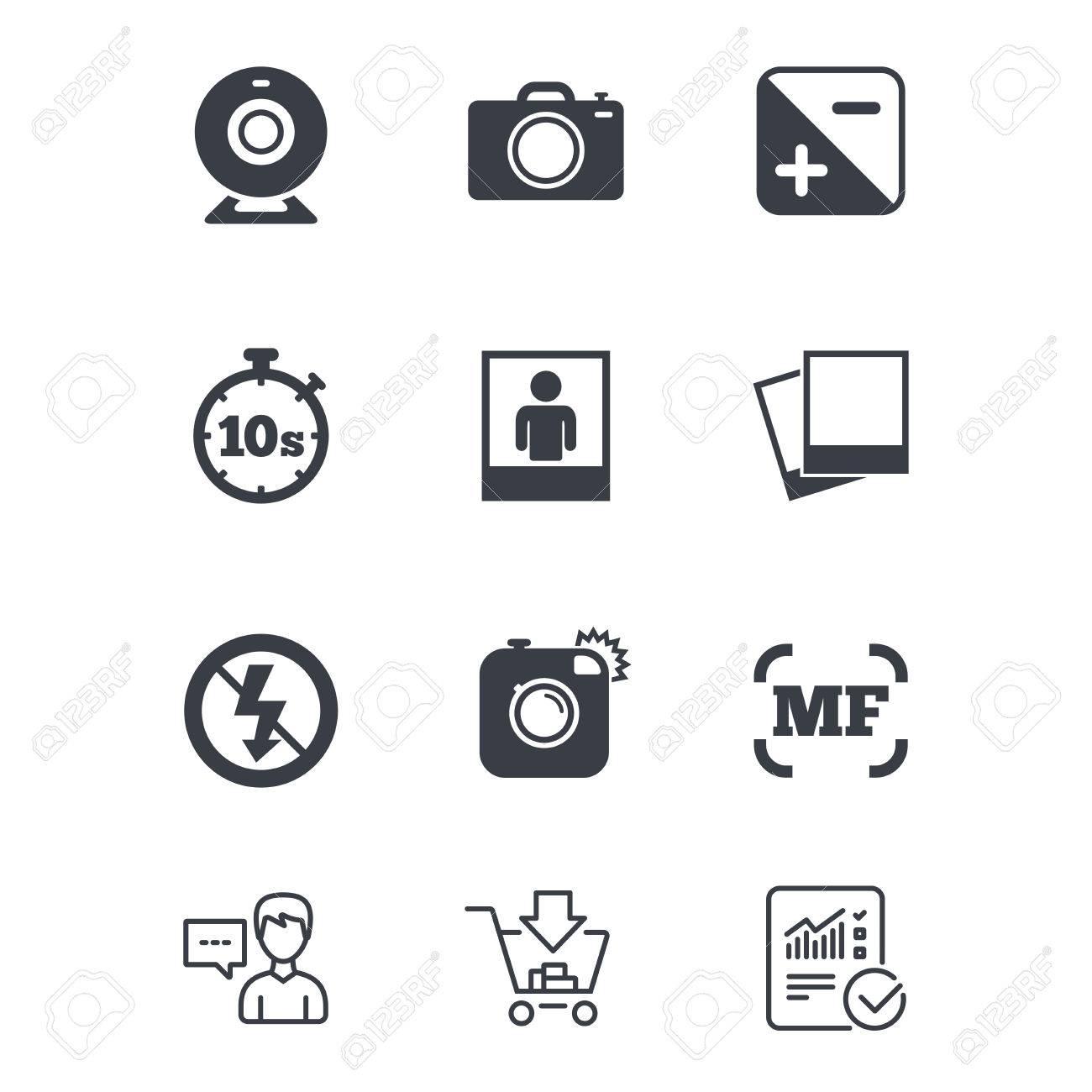 Foto, íconos De Video. Cámara Web, Fotos Y Carteles De Marcos. Sin ...