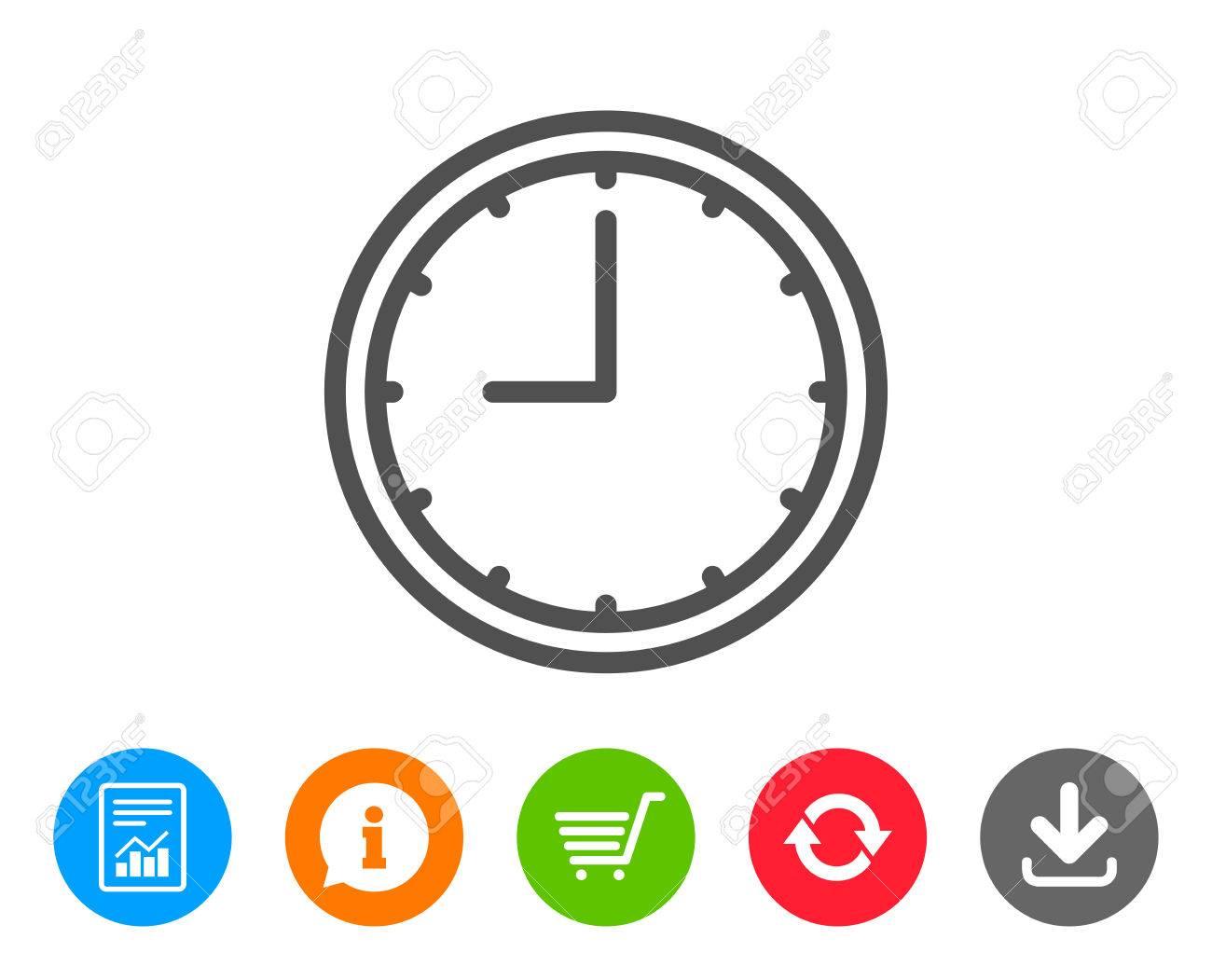4b825c79d291 Icono De La Línea De Reloj Señal De Tiempo Reloj De Oficina O Símbolo De  Temporizador. Informe