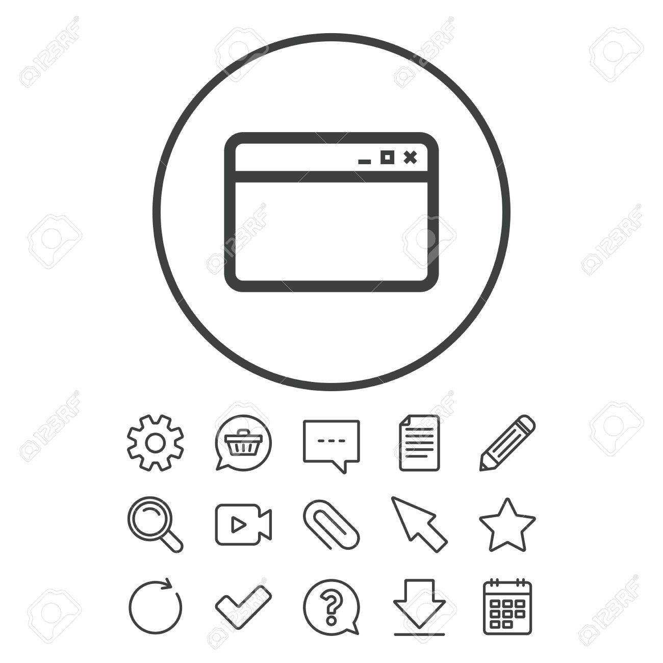 Browser window icon internet page symbol website empty template internet page symbol website empty template sign document chat buycottarizona Gallery