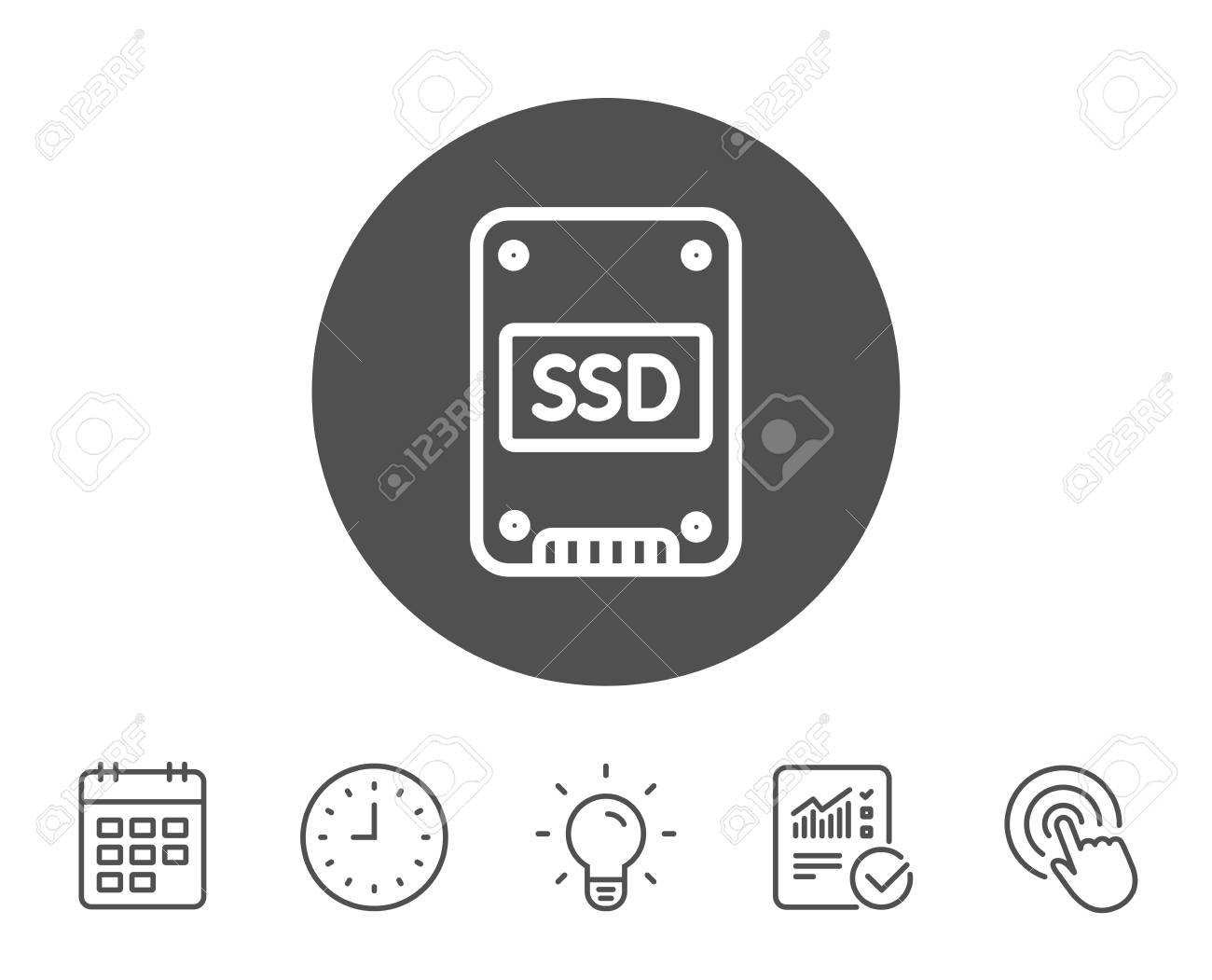 SSD Icon. Solid-state Drive Sign. Storage Disk Symbol. Report ...