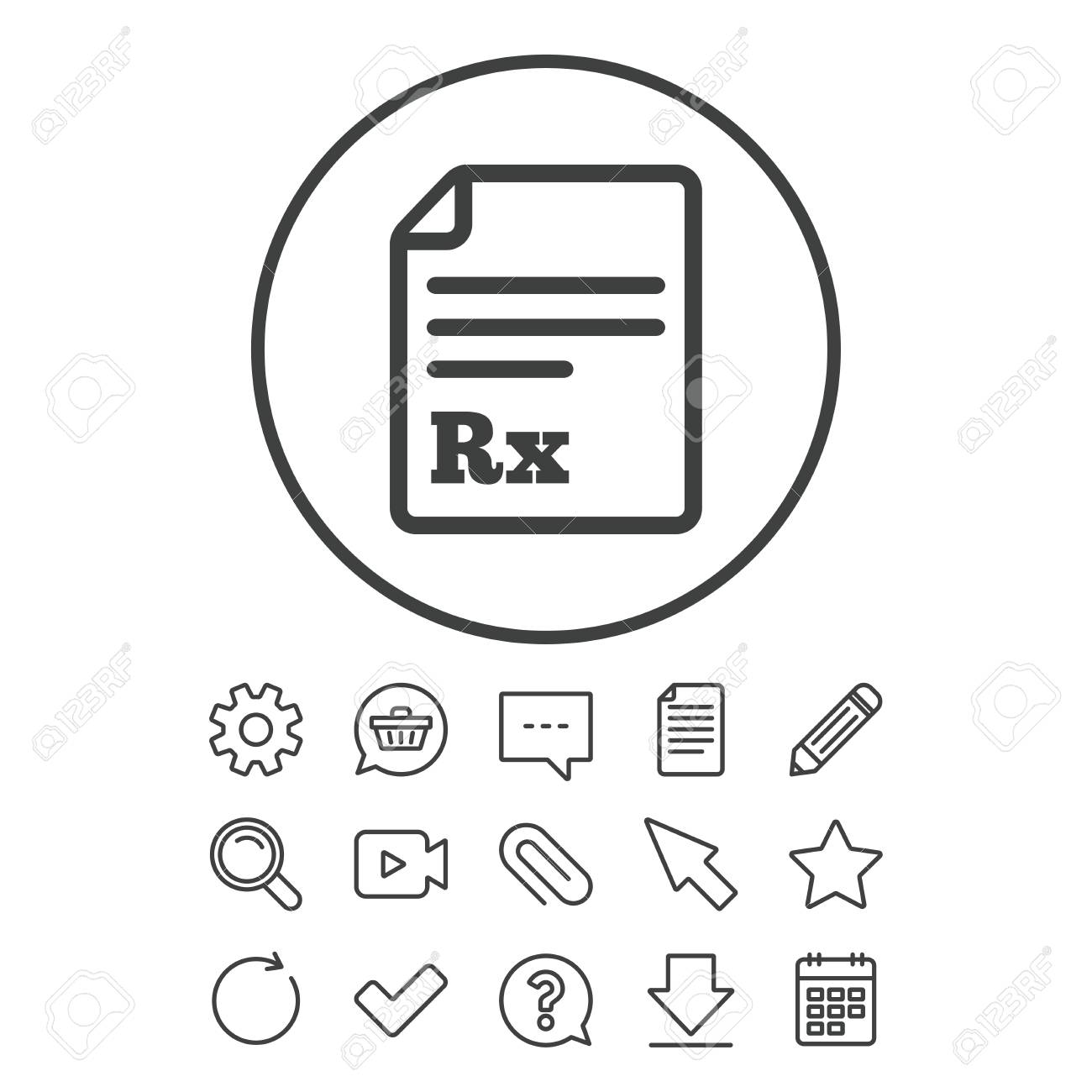 Medical Prescription Rx Sign Icon Pharmacy Or Medicine Symbol