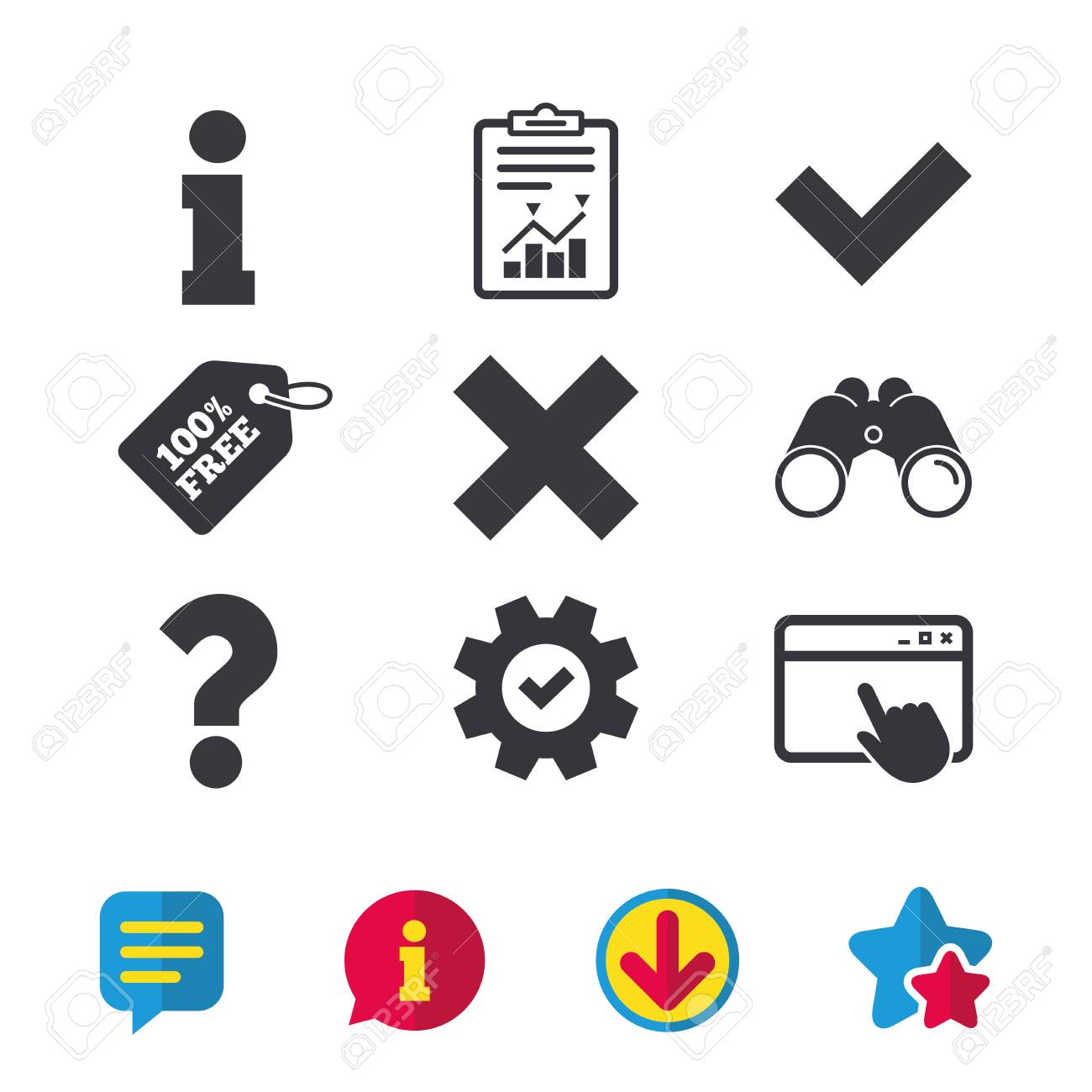 Information icons delete and question faq mark signs approved delete and question faq mark signs approved check mark symbol browser biocorpaavc Image collections