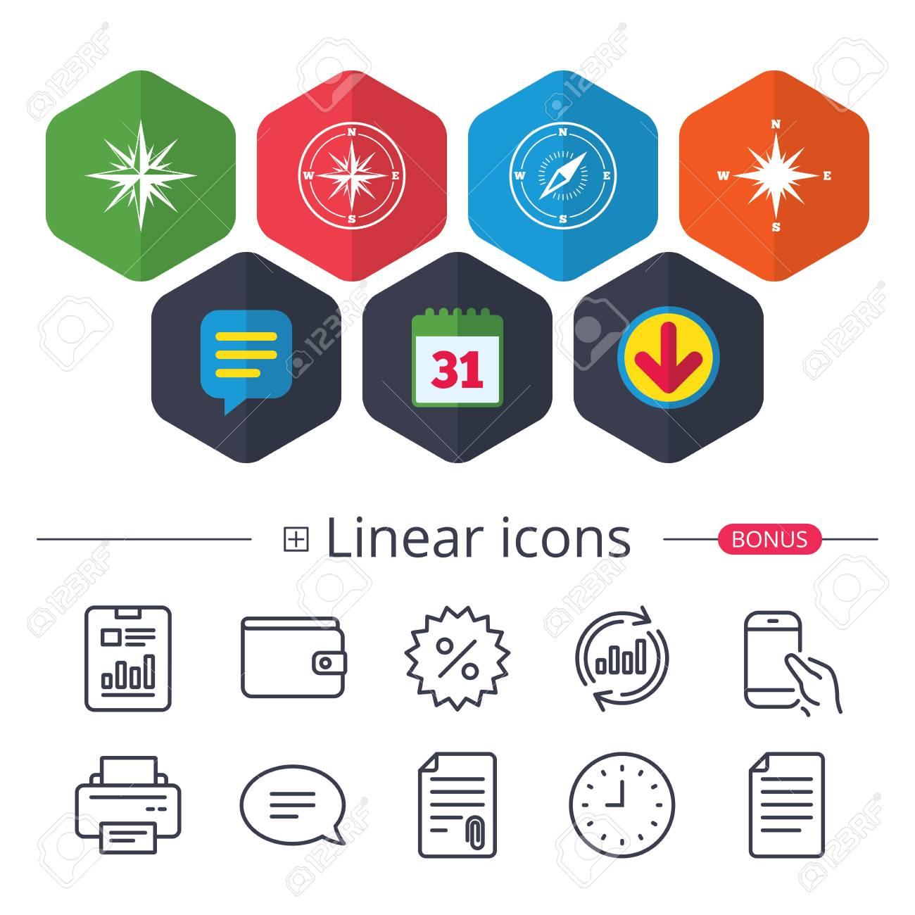Calendario Segni.Calendario Fumetto E Segni Di Download Windrose Icone Di Navigazione Simboli Bussola Segno Di Sistema Di Coordinate Chat Riporta Le Icone Delle