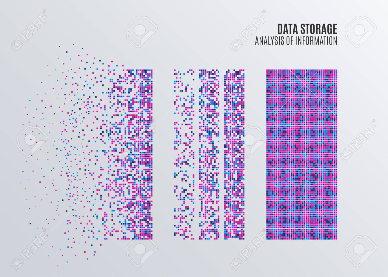 Big Data Machine Learning or Statistics Algorithms. Analysis of Information Infographics Design. Science or Technology Background. Vector Illustration. - 90851902