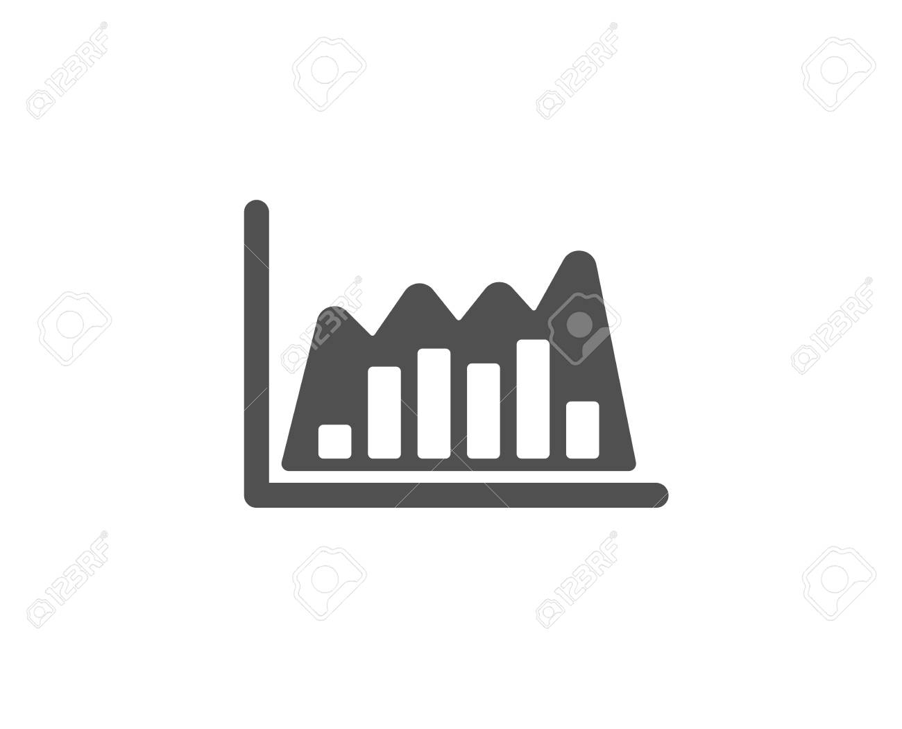 Investment Chart Simple Icon Economic Graph Sign Stock Exchange