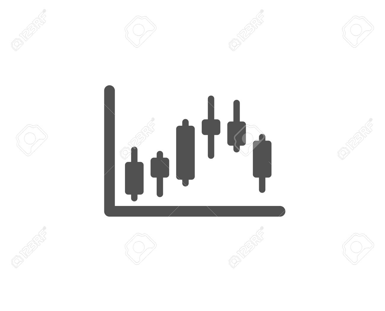 Candlestick Chart Simple Icon Financial Graph Sign Stock Exchange