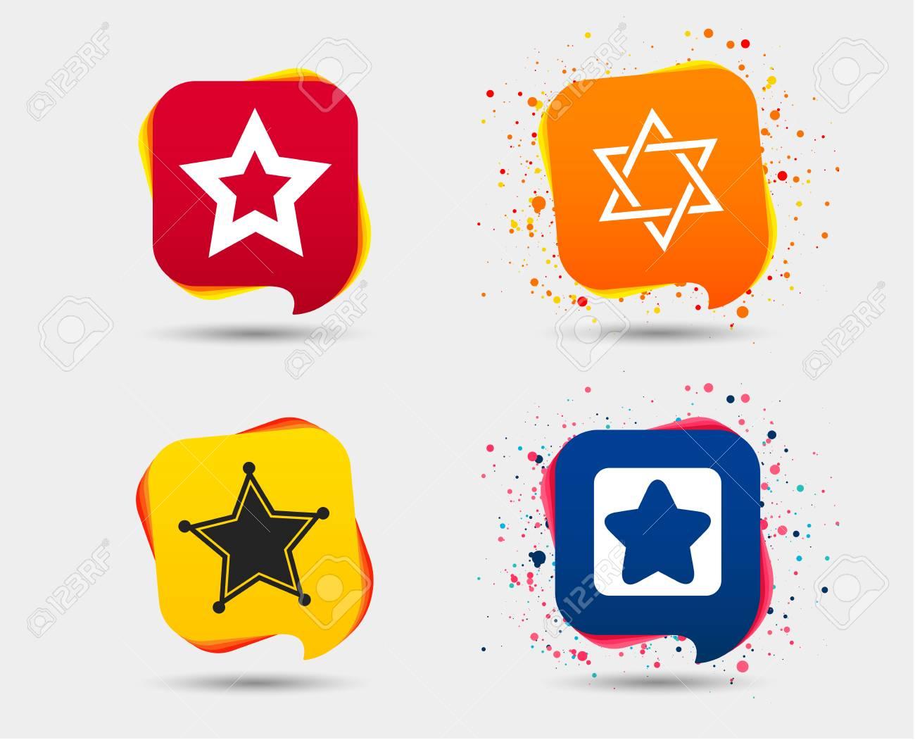 Star Of David Icons Sheriff Police Sign Symbol Of Israel Speech