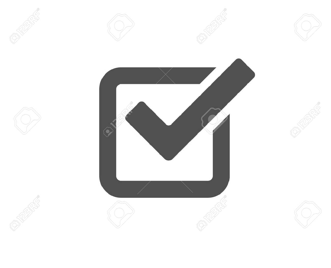 Check simple icon. Approved Tick sign. Confirm, Done or Accept symbol. Quality design elements. Classic style. - 95953026