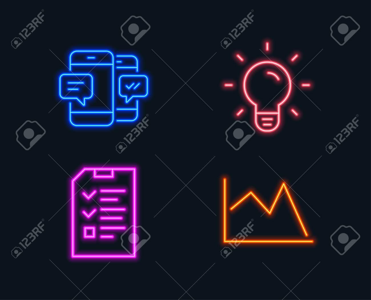 Neon Light Bulbs >> Neon Lights Set Of Light Bulb Smartphone Sms And Interview