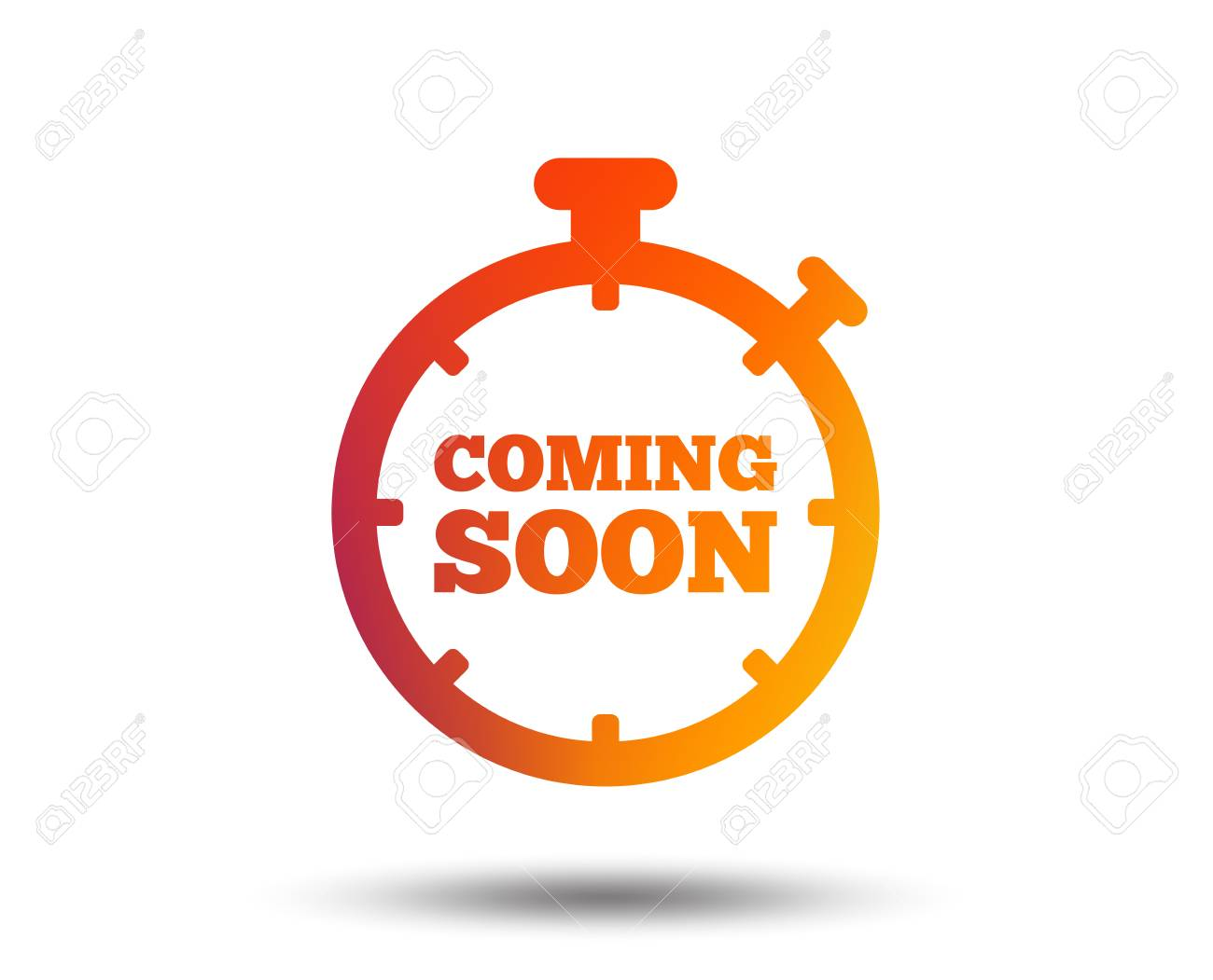 Coming Soon Sign Icon Promotion Announcement Symbol Blurred Royalty Free Cliparts Vectors And Stock Illustration Image 96848113