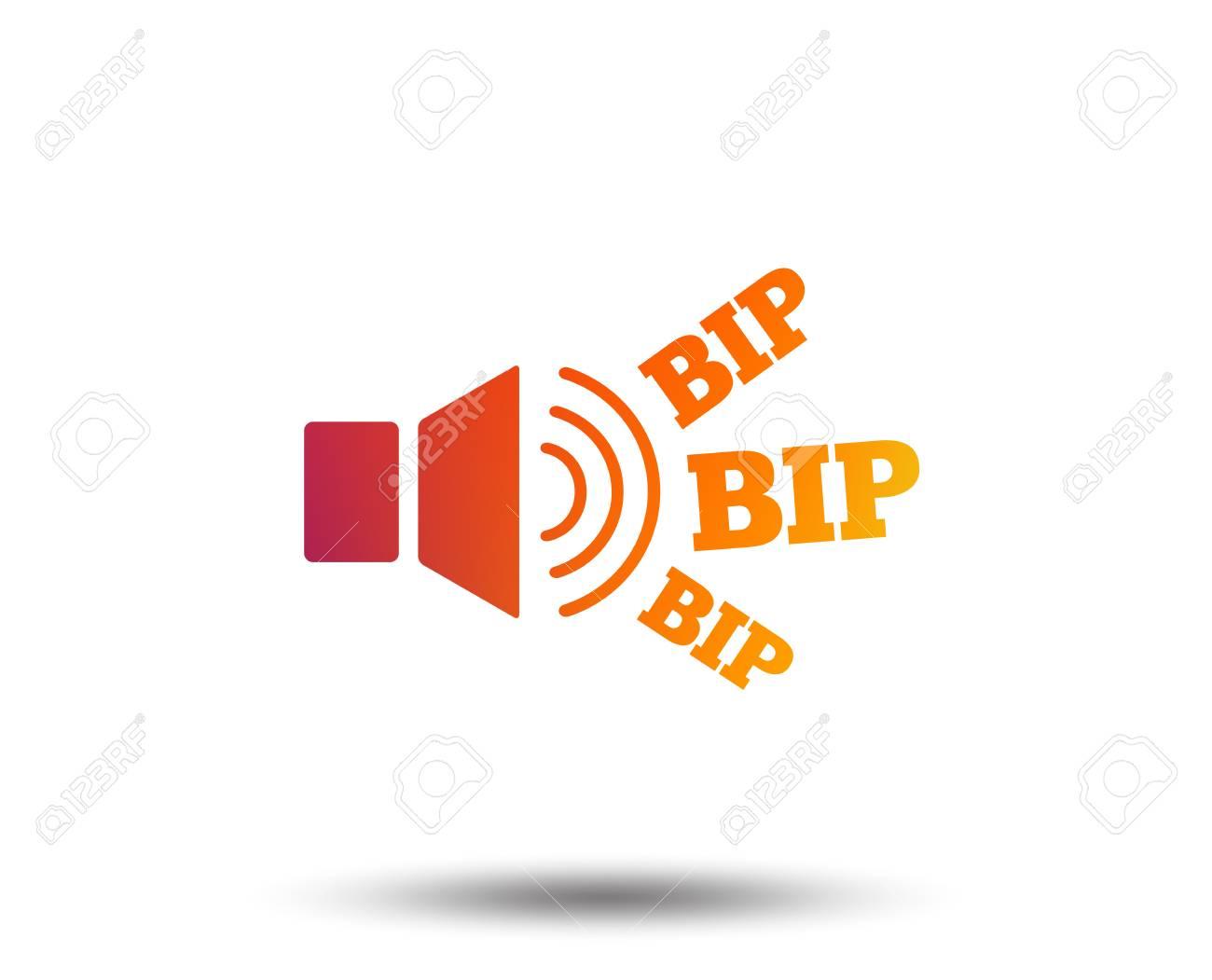 Speaker Volume Icon Sound With Bip Symbol Loud Signal Blurred