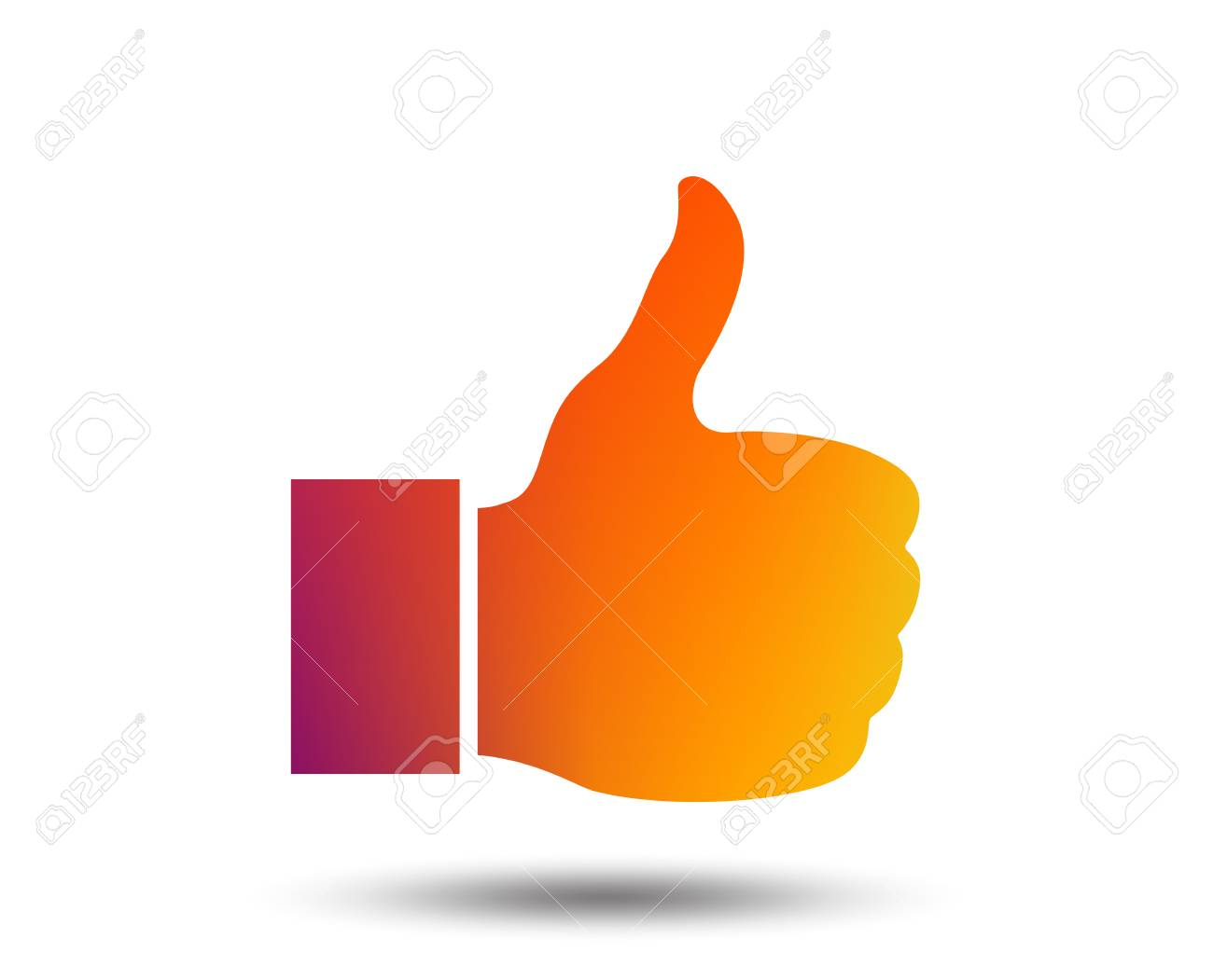 Like Sign Icon Thumb Up Sign Hand Finger Up Symbol Blurred