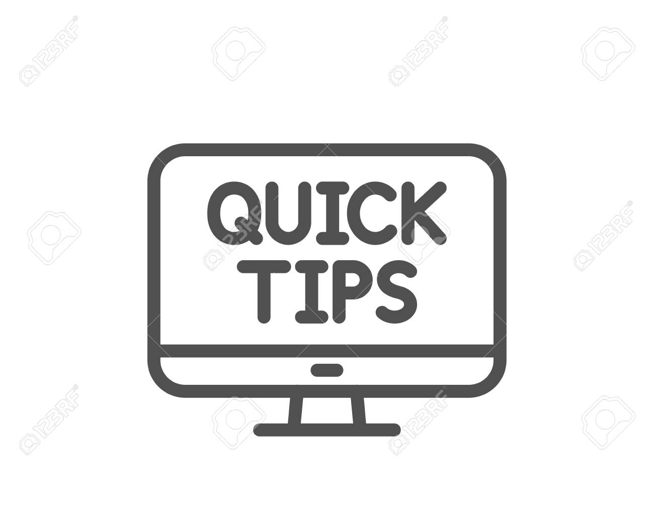 Quick tips line icon  Helpful tricks sign  Web tutorials symbol