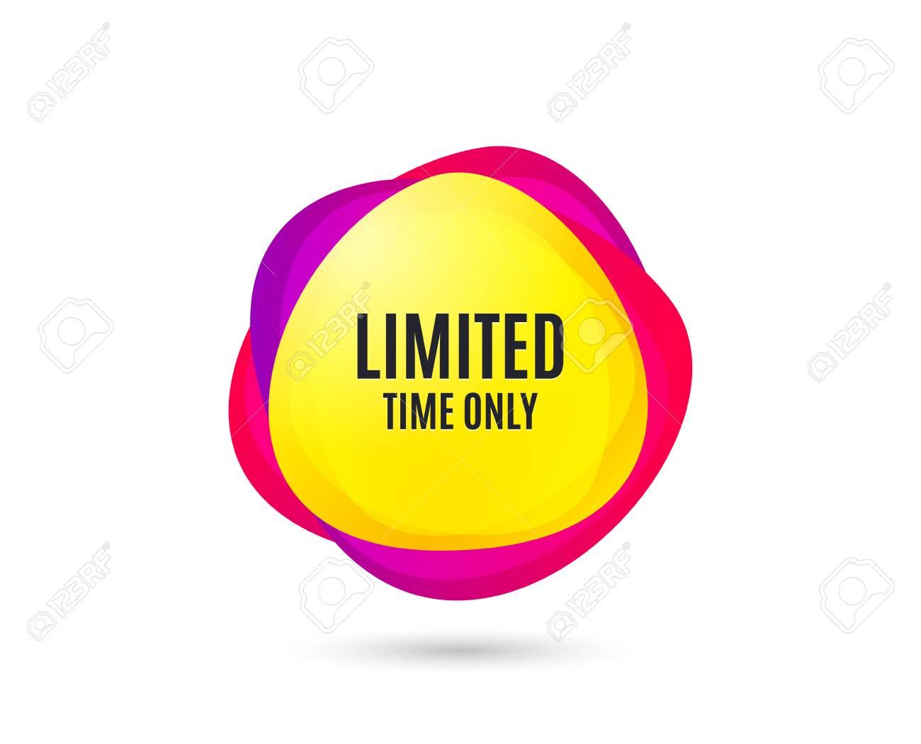 limited time symbol special offer sign sale gradient sales