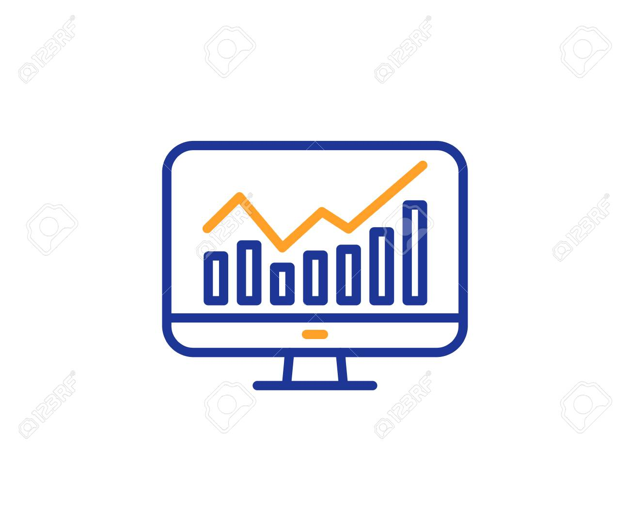 Statistics line icon  Data analysis sign  Business strategy