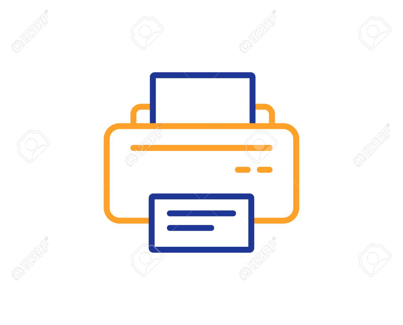 Printer Icon. Printout Electronic Device Sign. Office Equipment ...