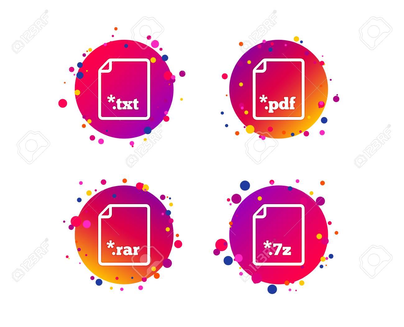 Download document icons  File extensions symbols  PDF, RAR, 7z