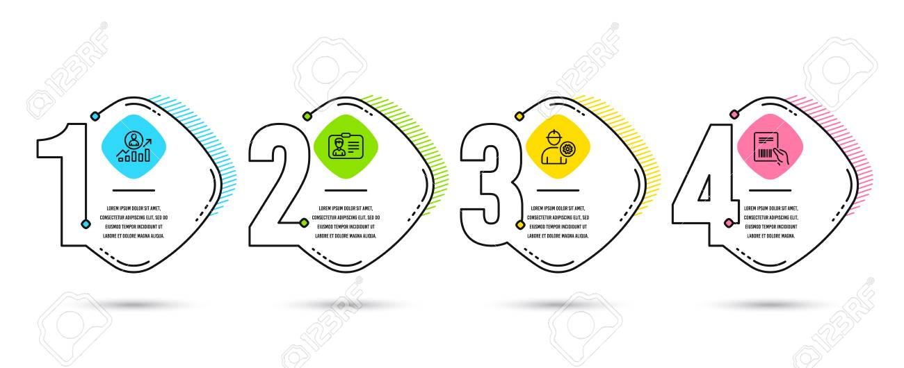 Infographic Template 4 Options Or Steps Set Of Engineer Identification Royalty Free Cliparts Vectors And Stock Illustration Image 126313326