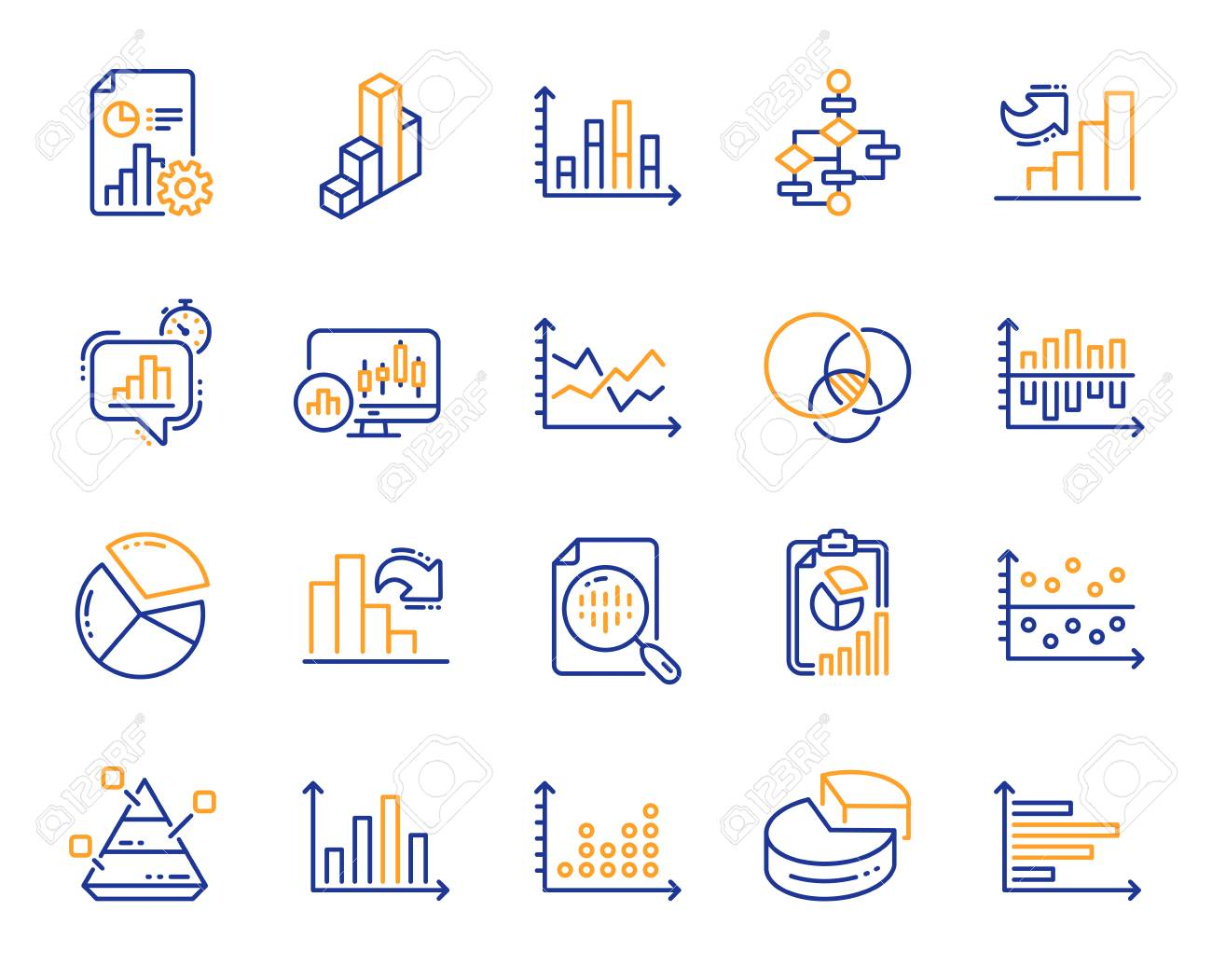 Charts And Diagrams Line Icons. Report [ 1051 x 1300 Pixel ]