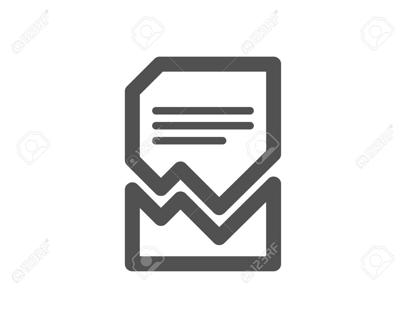Corrupted Document icon. Bad File sign. Paper page concept symbol. Quality design element. Classic style icon. Vector - 125986048