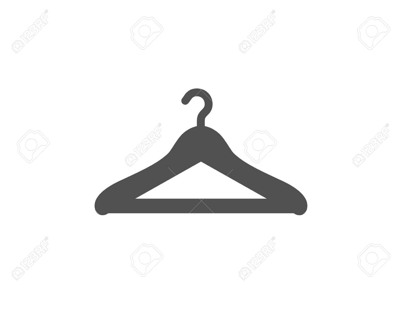 Cloakroom icon. Hanger wardrobe sign. Clothes service symbol. Quality design element. Classic style icon. Vector - 125986162