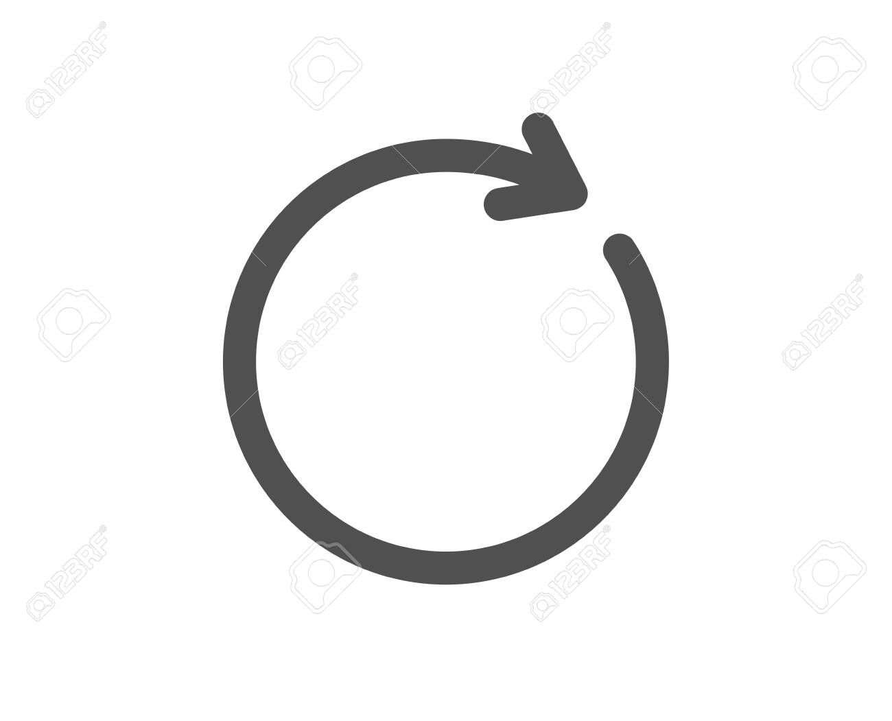 Refresh icon. Rotation arrow sign. Reset or Reload symbol. Quality design element. Classic style icon. Vector - 125932062