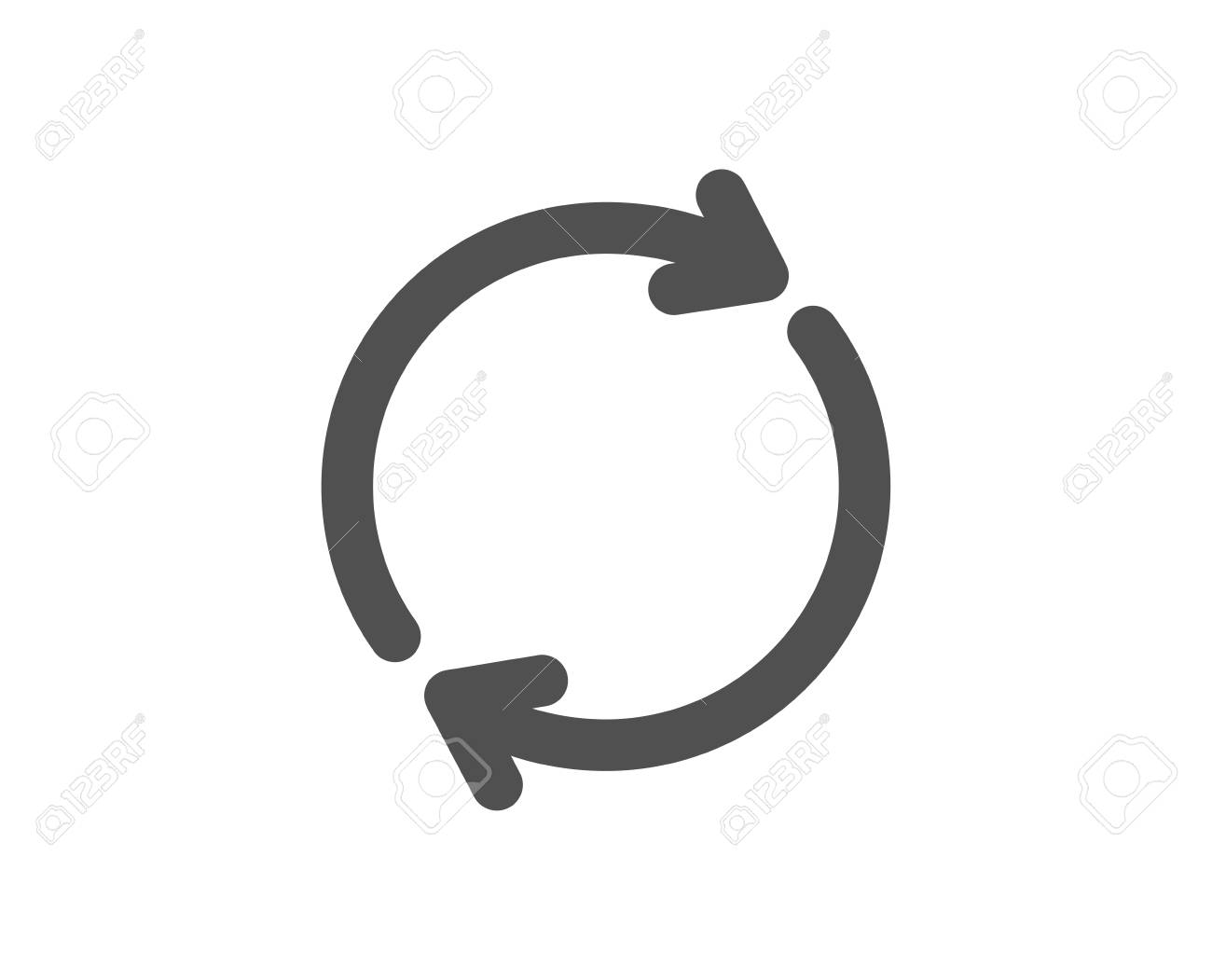 Refresh icon. Rotation arrow sign. Reset or Reload symbol. Quality design element. Classic style icon. Vector - 116297918