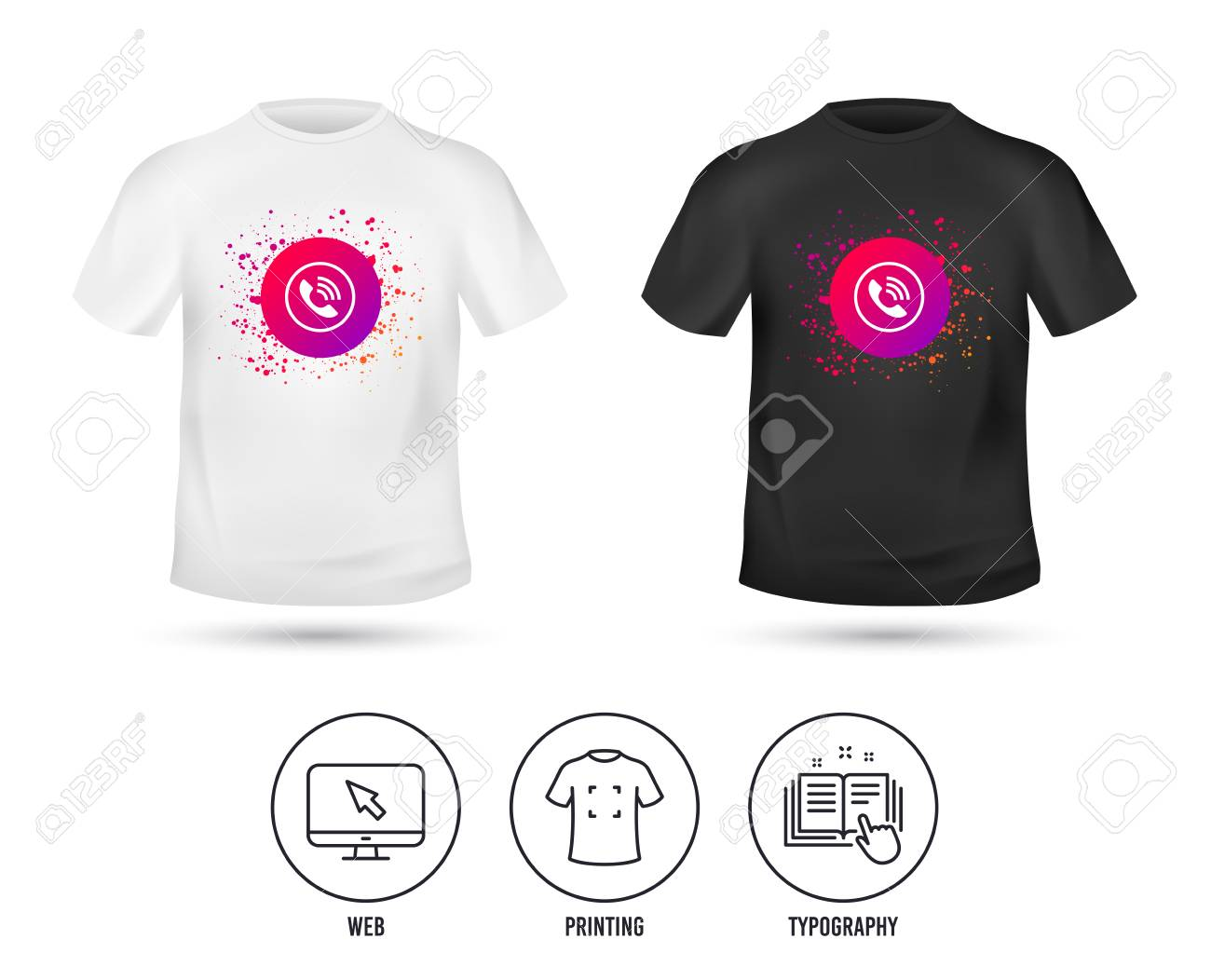 t shirt mock up template phone sign icon call support center royalty free cliparts vectors and stock illustration image 124794297 t shirt mock up template phone sign icon call support center