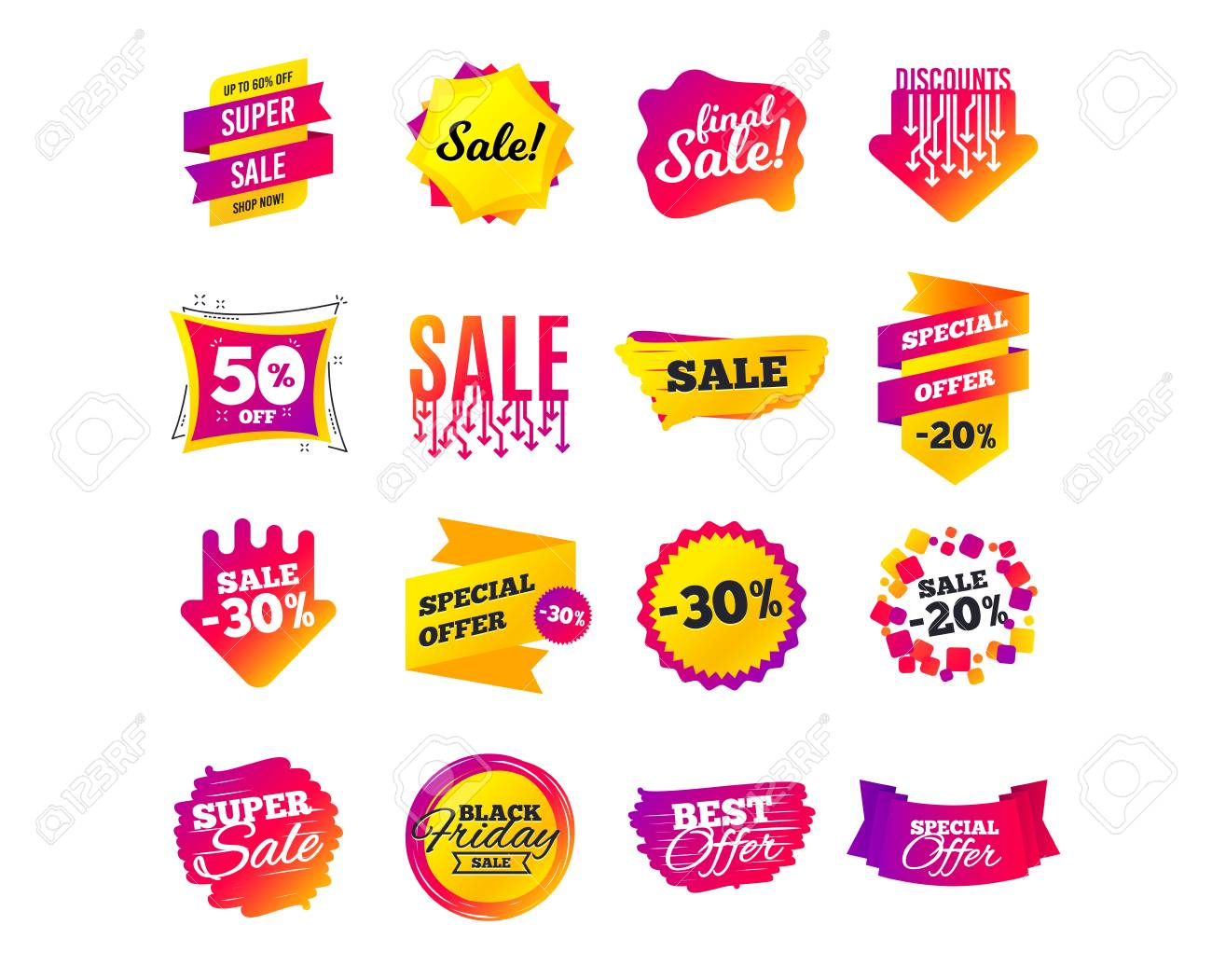 Sale Banner Templates Design Special Offer Tags Cyber Monday Royalty Free Cliparts Vectors And Stock Illustration Image 117966069