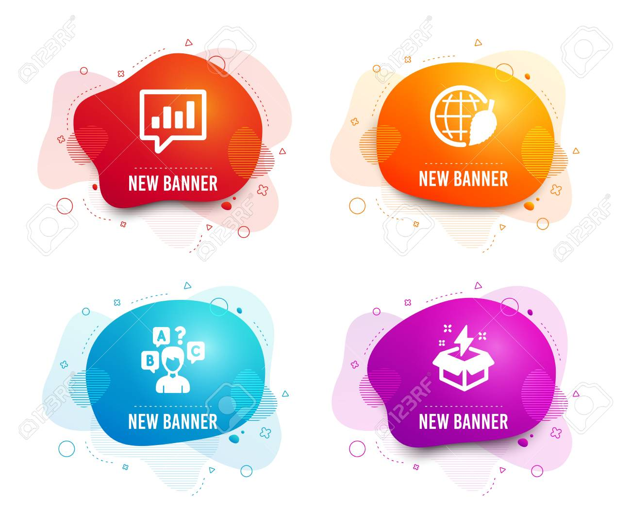 Liquid badges  Set of Environment day, Quiz test and Analytical