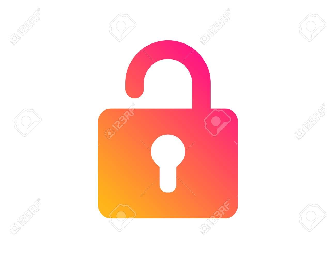 Lock icon. Private locker sign. Password encryption symbol. Classic flat style. Gradient lock icon. Vector - 123159587