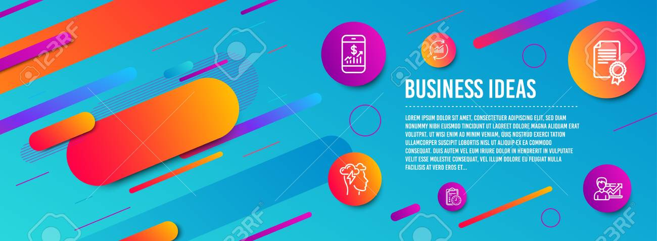 Header Banner Update Data Mobile Finance And Mindfulness Stress Royalty Free Cliparts Vectors And Stock Illustration Image 123159672
