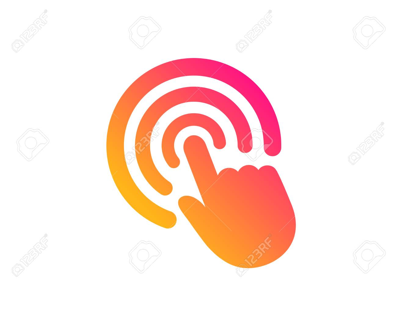 Hand Click icon. Finger touch sign. Cursor pointer symbol. Classic flat style. Gradient click icon. Vector - 122776579